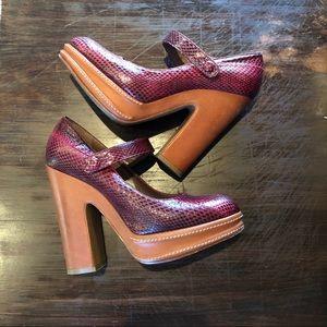 MARNI Mary Jane Platform Heels Size 37